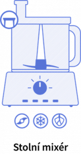 Stolný mixér a jeho funkcie