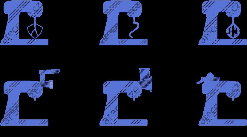 Ukázka různých typů hnětačů