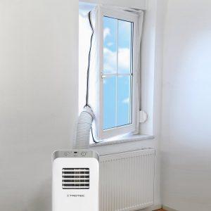Ukážka umiestnenia vývodu klimatizácie z okna