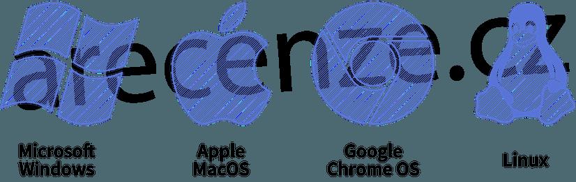 Loga jednotlivých operačních systémů pro notebooky