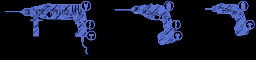 Vŕtačky podľa typu - príklepová vŕtačka, aku vŕtačka a aku skrutkovač