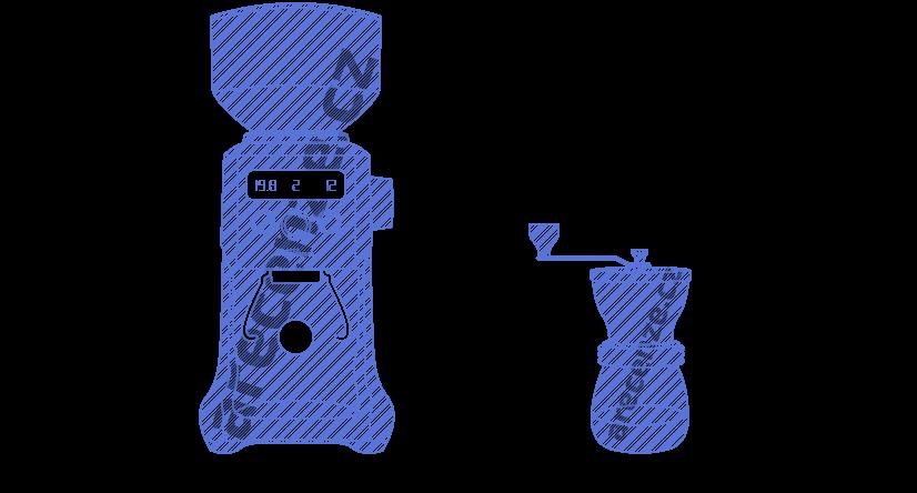 Ukážka elektrického a ručného mlynčeka na kávu